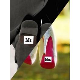 Schoenstickers Mr en Mrs