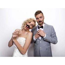 Zes foto props Moustache