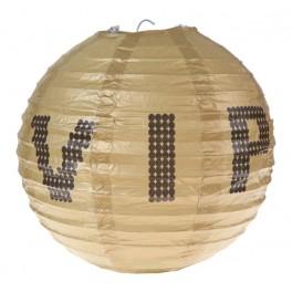 Twee bolvormige lampionnen VIP met een doorsnede van 20 cm