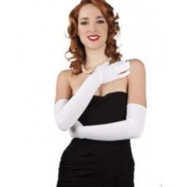 Mooie handschoenen wit met stretch