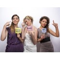 Pak met drie foto props Team Bride