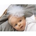 Tule haarband voor baby en kind wit
