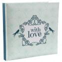 Gastenboek With Love vintage mint