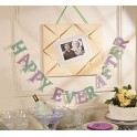 Letterbanner Happy Ever After mint en lila