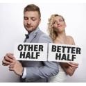 Aanbiedings set foto props Other half en Beter half